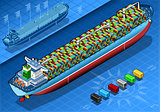 Cargo Ship 05 Vehicle Isometric