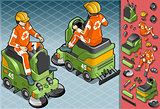 Cleaner Machine 01 Vehicle Isometric