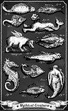 Creatures 01 Vintage Blackboard 2D