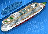 Cruise Ship 01 Vehicle Isometric
