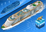 Cruise Ship 02 Vehicle Isometric
