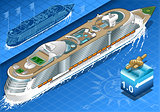 Cruise Ship 03 Vehicle Isometric