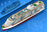 Cruise Ship 04 Vehicle Isometric