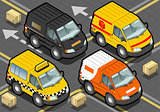 Delivery Truck 01 Vehicle Isometric