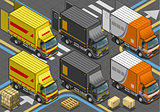 Delivery Truck 03 Vehicle Isometric