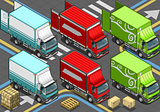 Delivery Truck 04 Vehicle Isometric