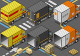 Delivery Truck 05 Vehicle Isometric