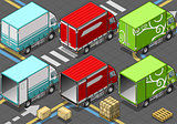Delivery Truck 06 Vehicle Isometric