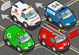 Emergency Van 01 Vehicle Isometric