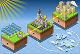 Energy 02 Infographic Isometric