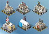 Energy Industry Building Isometric