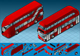 English Bus 01 Vehicle Isometric
