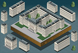 European 01 Building Isometric