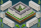 European 02 Building Isometric