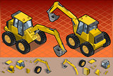 Excavator 01 Vehicle Isometric
