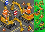 Excavator 02 Vehicle Isometric