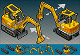 Excavator 03 Vehicle Isometric