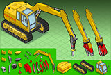 Excavator 04 Vehicle Isometric