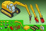 Excavator 04 Vehicle Isometric