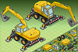 Excavator 05 Vehicle Isometric