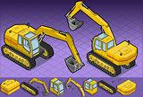 Excavator 06 Vehicle Isometric