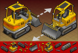 Excavator 07 Vehicle Isometric