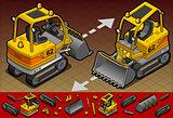 Excavator 07 Vehicle Isometric