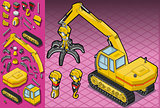 Excavator 08 Vehicle Isometric
