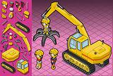 Excavator 08 Vehicle Isometric