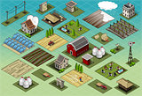 Farm Tiles 01 Building Isometric