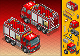 Firefighters 02 Vehicle Isometric