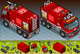 Firefighters 04 Vehicle Isometric