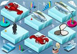 Fishes 02 Tiles Isometric