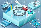Fishing 01 Infographics Isometric