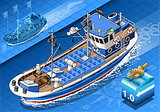 Fishing Boat 01 Vehicle Isometric