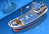 Fishing Boat 02 Vehicle Isometric