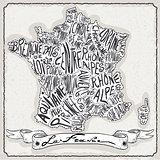 France Map 01 Vintage 2D