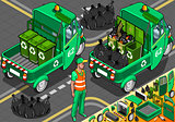 Garbage Rickshaw 02 Vehicle Isometric