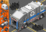 Garbage Truck 02 Vehicle Isometric