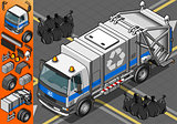 Garbage Truck 03 Vehicle Isometric
