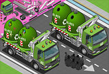 Garbage Truck 04 Vehicle Isometric