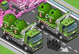 Garbage Truck 04 Vehicle Isometric