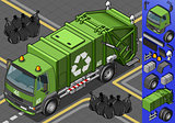 Garbage Truck 06 Vehicle Isometric