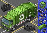 Garbage Truck 06 Vehicle Isometric