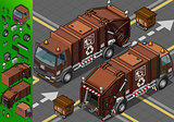 Garbage Truck 07 Vehicle Isometric