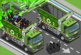 Garbage Truck 08 Vehicle Isometric
