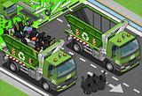 Garbage Truck 08 Vehicle Isometric