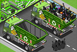 Garbage Truck 09 Vehicle Isometric