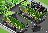 Garbage Truck 09 Vehicle Isometric