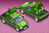 Garbage Van 01 Vehicle Isometric